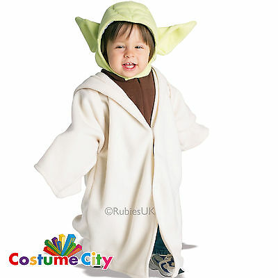 Childs Toddlers Official Disney Star Wars Yoda Fancy Dress Party Costume