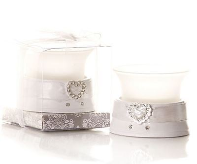 Set of 6 Diamante Heart Shaped Tea Light Candle Holder Wedding & Party Favours
