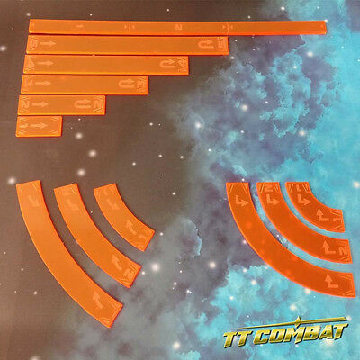 TTCombat - SWT012 - Space Wing Templates (Lava Orange) Great for X-Wing