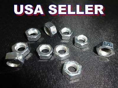 Steel Zinc Plated Hex Head Metric Nuts  M4, M5, M6, M7, M8 - 4mm 5mm 6mm 7mm 8mm