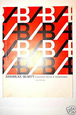 American Beauty Soldering Irons & Accessories Catalog 1971 #rr157