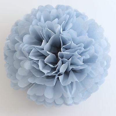 Dusty blue/ antique blue color tissue paper PomPom - party handmade pompoms