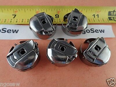 5 Japan TOWA L-size Pigtail Bobbin Cases Melco, SWF, Amaya Embroidery Machines