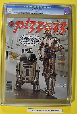 PIZZAZZ #1 Marvel Magazine 1977 STAR WARS Tarzan comics KISS RARE CGC NM+ 9.6