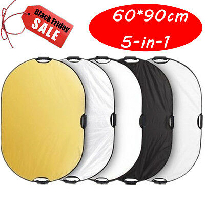 5-in-1 Multi Collapsible Light Photo Reflector 60*90cm 23.6x35.4'' Light Control