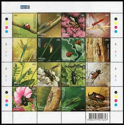 MALTA MNH 2005 Insects sheetlet