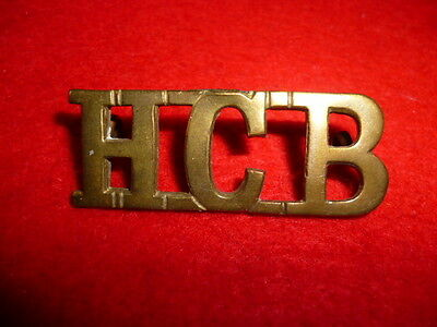 WW1 - Britain / Highland Cyclists Battalion Brass Shoulder Title, Westlake 1583