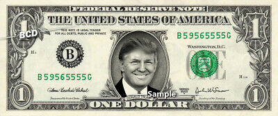 DONALD TRUMP on REAL Dollar Bill Cash Money Memorabilia Collectible Celebrity