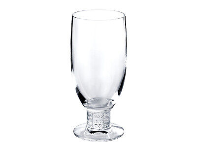 Lalique Louvre Beer Glass Clear Crystal Satin Finish Brand New In Box #1589200