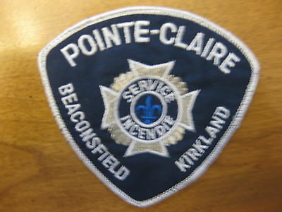 Pointe Claire Beaconsfield Kirkland  Fire Department  Sew On Patch