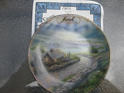 Plate Thomas Kinkade's Simpler Times Collection March
