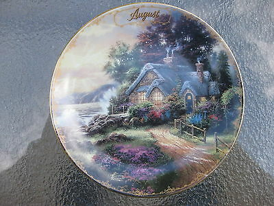 Plate Thomas Kinkade's Simpler Times Collection August