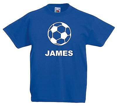 Personalised Football T Shirt. Choice of T Shirt Colours. Free Postage.