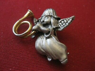 Pewter Angel Brooch