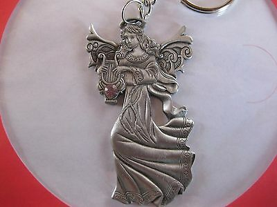 Angel Key Ring Pewter Condition New