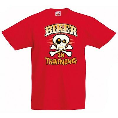 BIKER IN TRAINING T Shirt. Choice of T Shirt Colours. Free Postage.