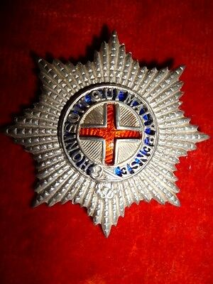 Coldstream Guards Warrant Officer's Cap Badge, Silver & Enamels, KK 899