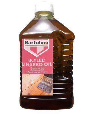 Bartoline Boiled Linseed Oil 2 Litre Gives Sheen Use Internally or Externally