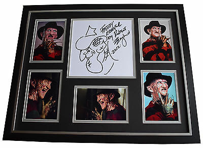 Robert Englund SIGNED FRAMED Photo Autograph Huge display Rare Unique ART & COA