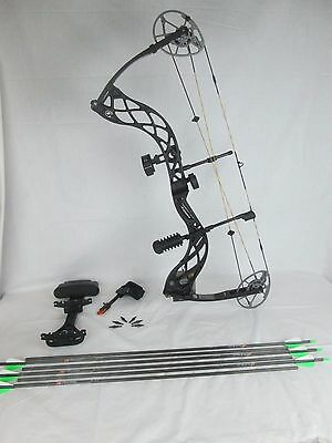 Diamond Deploy SB Compound Bow Package Right hand 70lbs Black & Arrows