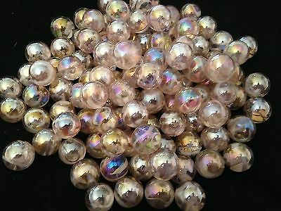 HOM Glass Marbles 50 x 14mm Fairy Collectors game solitair