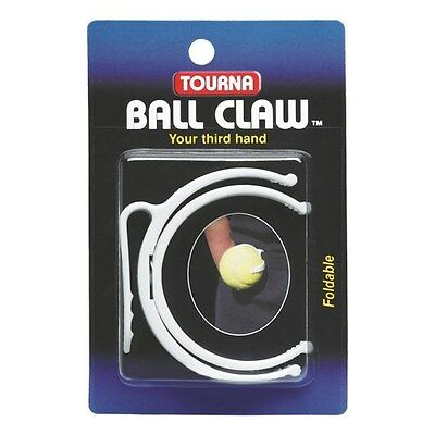 Unique Tourna Ball Claw Pro Tennis Ball Pocket Holder Clips To Waist White
