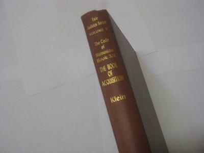 The Code of Maimonides The book of acquisition RAMBAM  Mishneh Torah in ENGLISH