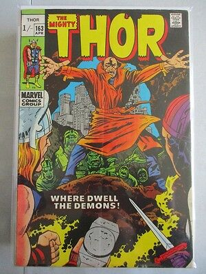 Mighty Thor Vol. 1 (1966-2011) #163 VG/FN HIM Appearance UK Price Variant