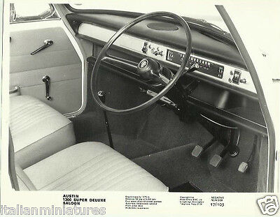 Austin 1300 Super Deluxe Saloon 1967 Interior Original Press Photograph