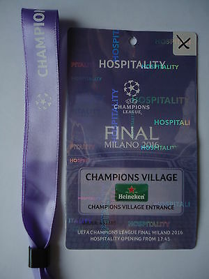 Hospitality Pass & VIP Band UEFA CL Finale 2016 Atletico Madrid - Real Madrid #2
