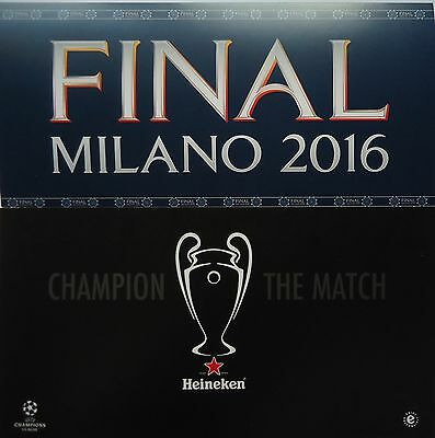 Map & Flyer UEFA CL Finale 2016 Atletico Madrid - Real Madrid