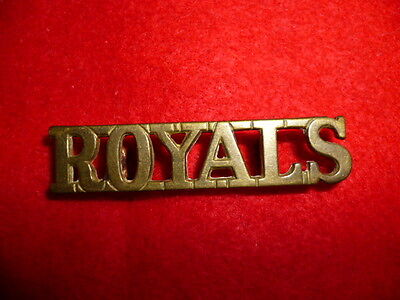 The Royal Dragoons Brass Shoulder Title