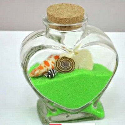 Mini Heart Shape Glass Storage Jars Mug Bottle Container with Cork Stopper