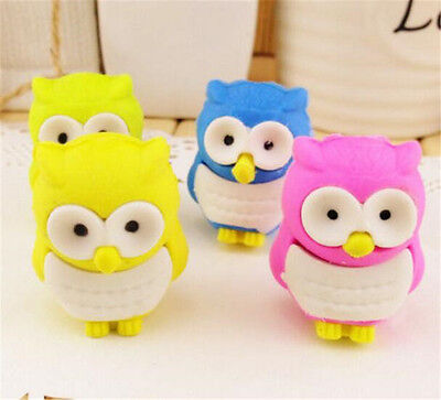 FD3706 Creative Owl Eraser Rubber Pencil Stationery Cute Stationery Gift 1pc✿