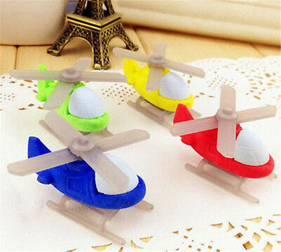 FD3712 Smart Helicopter Eraser Rubber Pencil Stationery Cute Children Gift 1pc✿