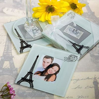 Set of 6 From Paris With Love Collection Wedding & Party Coaster Set Favours