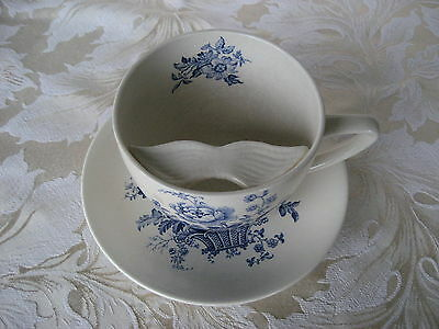 Beautiful Crown Devon Mustashe Cup and Saucer Crazing