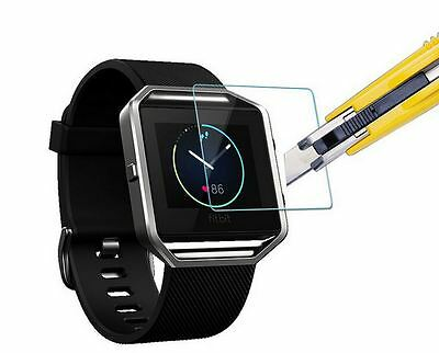 Hellfire Trading Tempered Glass Screen Protector Film Guard for Fitbit Blaze