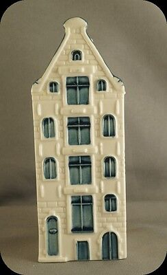 KLM Blue Delft Miniature House Decanter #65 Made for KLM By Bols Distilleries