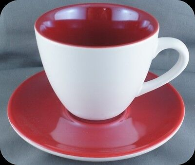 Starbucks  Espreso Coffee Cup and Saucer Red