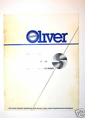 Oliver  Drill Pointers Drill Point Thinners Drill Point Check Gage Catalog Rr131