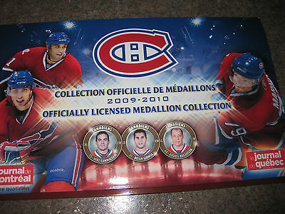 Rare Montreal Canadians Medallions Collection Album 2009-10