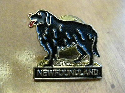 Newfoundland Dog Pin Back Button