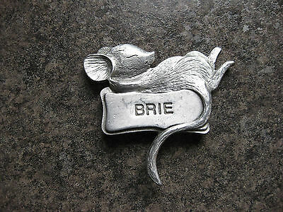 Mouse Cheese Identifiers  Made Of Pewter Lot Of 5