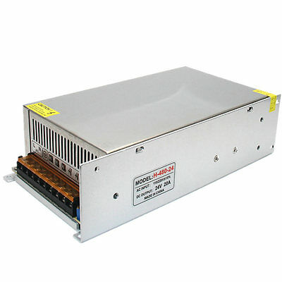 New 24V 20A 480W Switching Power Supply LED Driver AC 100-240V Input to DC 24V