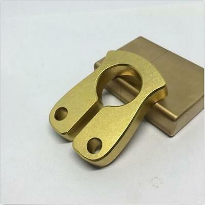 Solid Brass Key Ring EDC Keychain Outdoor Tactical Self-defense Tools L