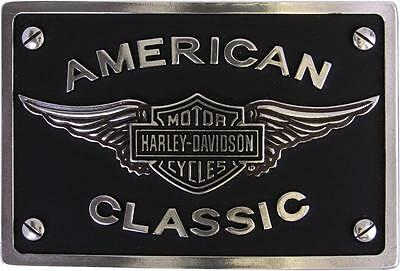 Harley Davidson Mens Classic Winged B&S Classic Buckle