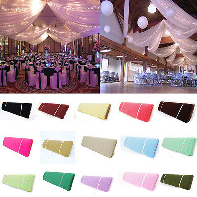 "54""x120Ft (40 Yards) Bolt Tulle Bridal Tutu Pew Craft Draping Wedding Party Deco"