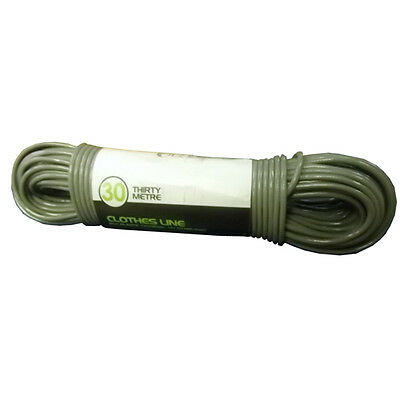 Orwell 30m Superior Strength Clothes Line Wire Centre PVC Coated UV Stabilised