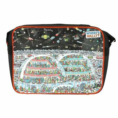 Officially Licensed Classic Where's Wally Space Scene Messenger Bag